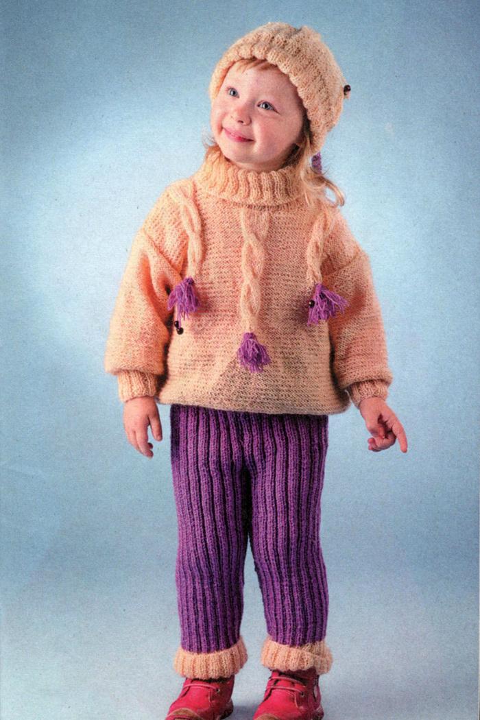 Вязание детских костюмов крючком схемы