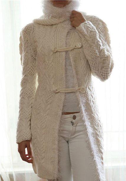 Модные модели вязанный спицами