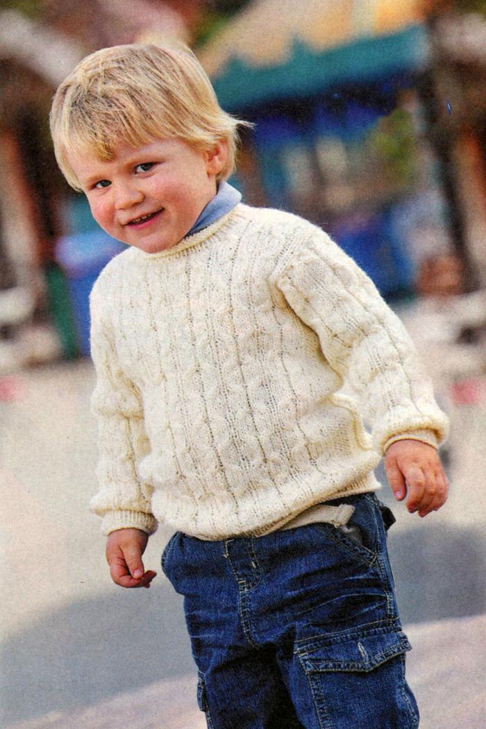 Вязание пуловера на мальчика