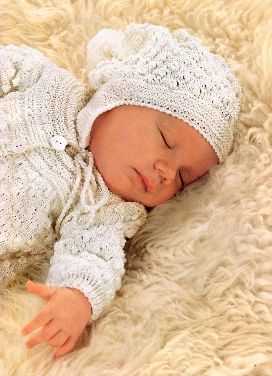 Вязание детских костюмов новорожденных