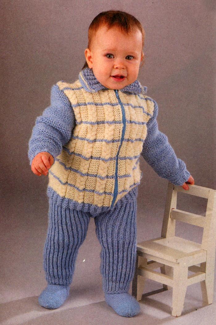 Вяжем детский костюм на малыша