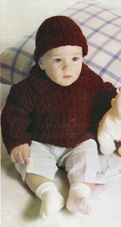 схема вязания кофты для 6 месячного ребенка спицами для начинающих