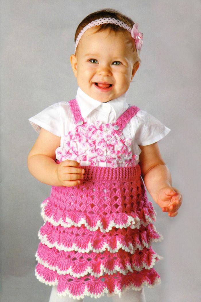 Вязание сарафана девочке 1 года