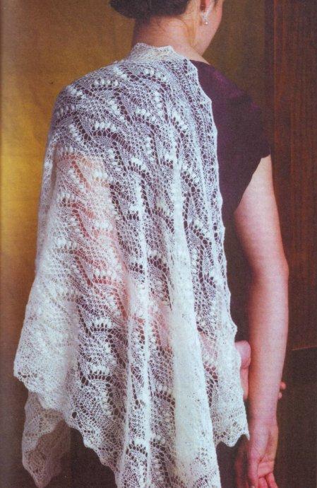 Вязание платков шалей