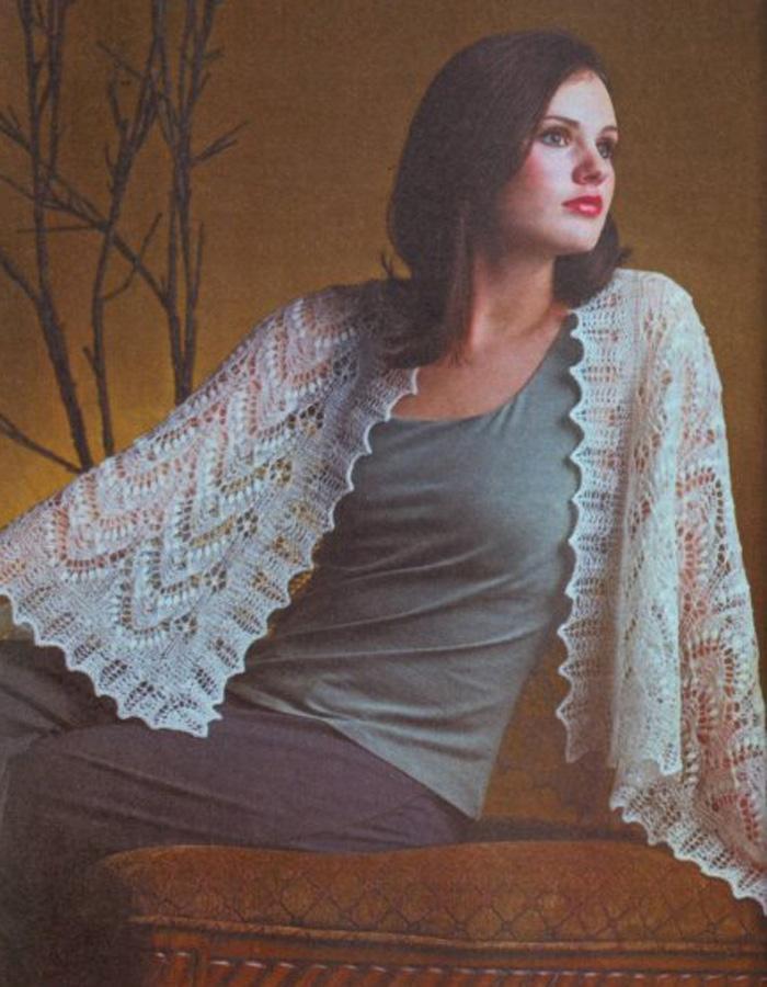 Вязание шали накидки