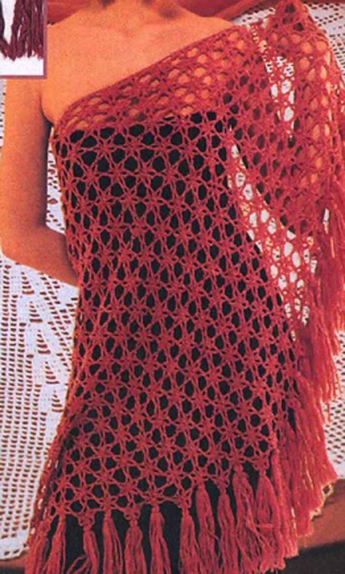 Вязание шали крючком - Схемы вязания - Крючок и спицы