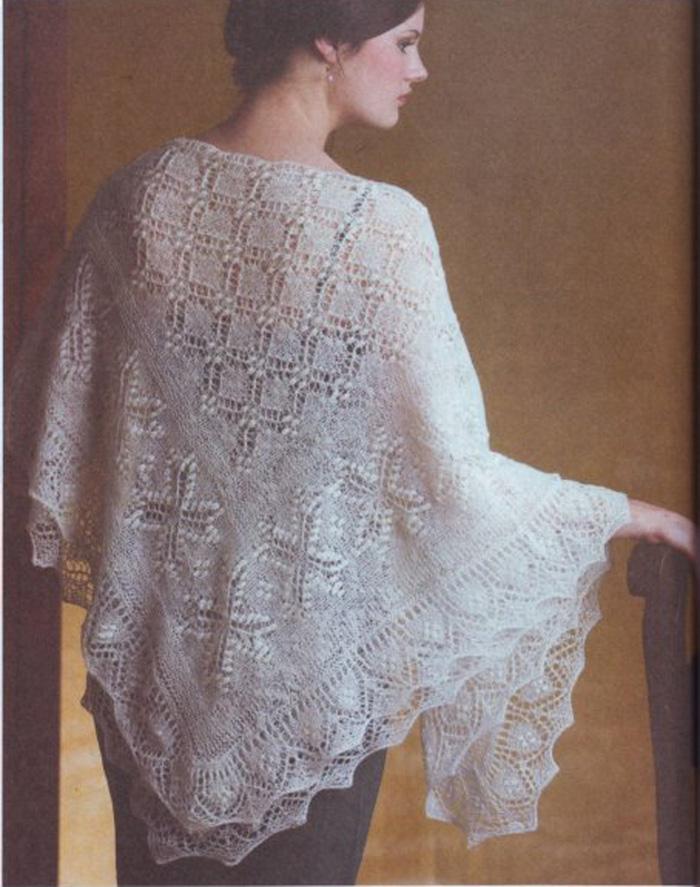 Вязание пуховых шалей