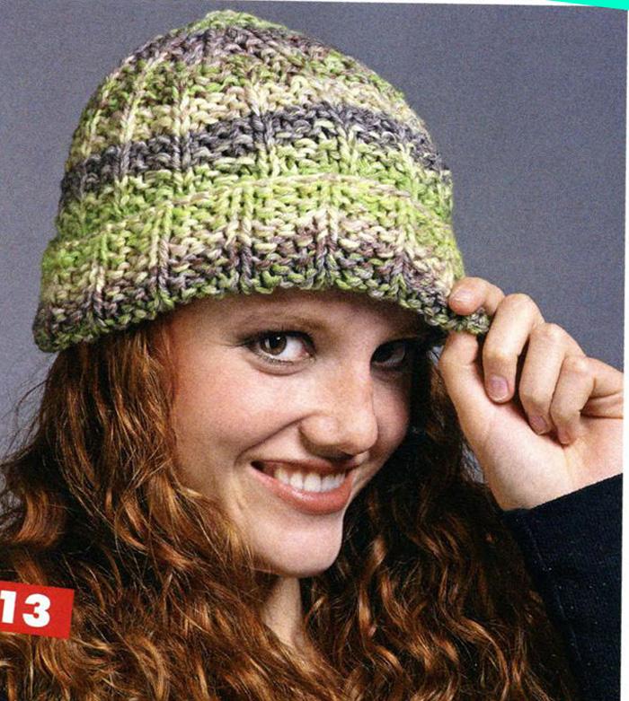 схем для вязания шапок.