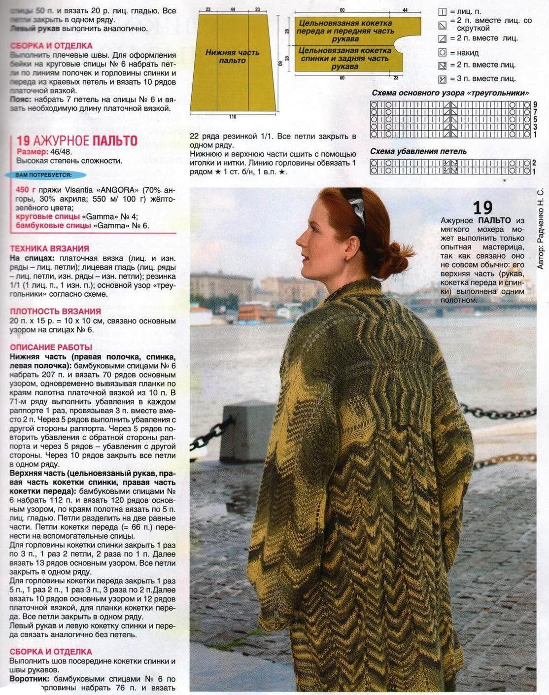 Вязаное пальто крючком для женщин схемы фото