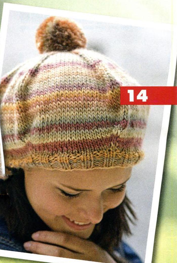 Образцы вязания спицами для шапок с описанием и схемами