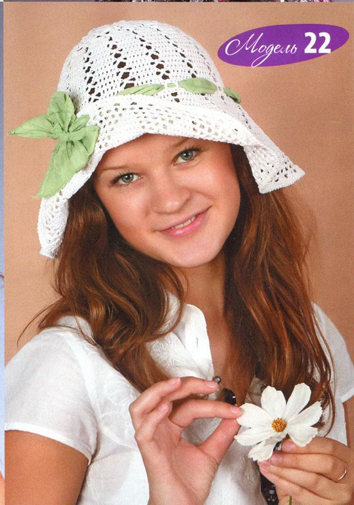 Вязание ажурных шапок
