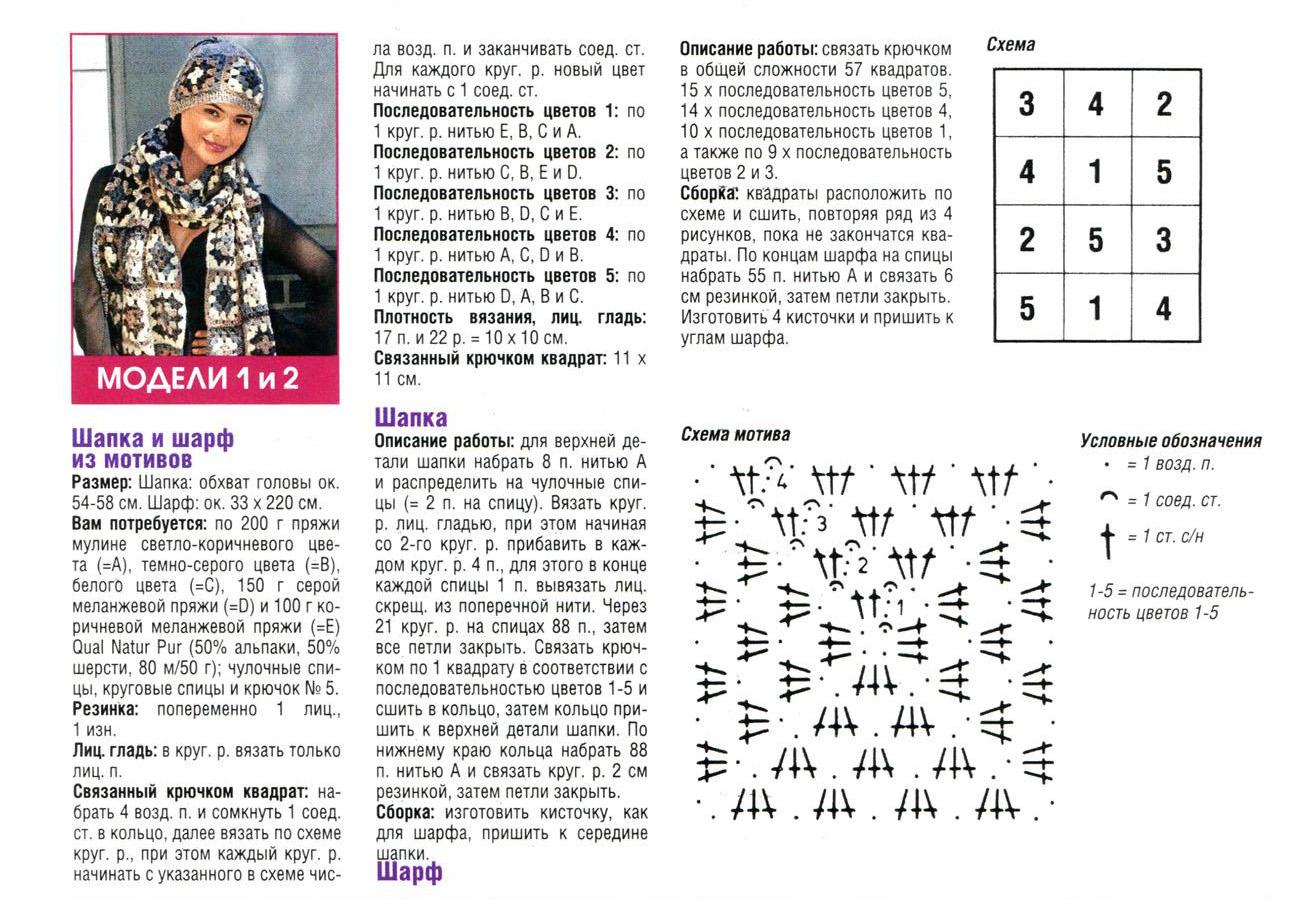 Вязаные береты (модели с описанием) Вязание спицами 96