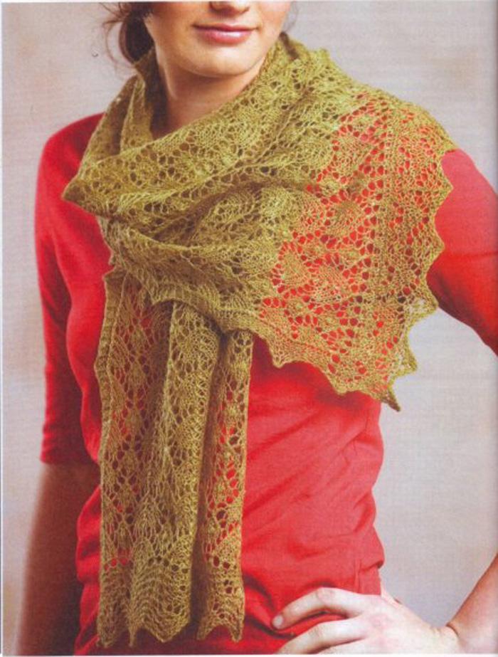 Вязание шалей шарфов