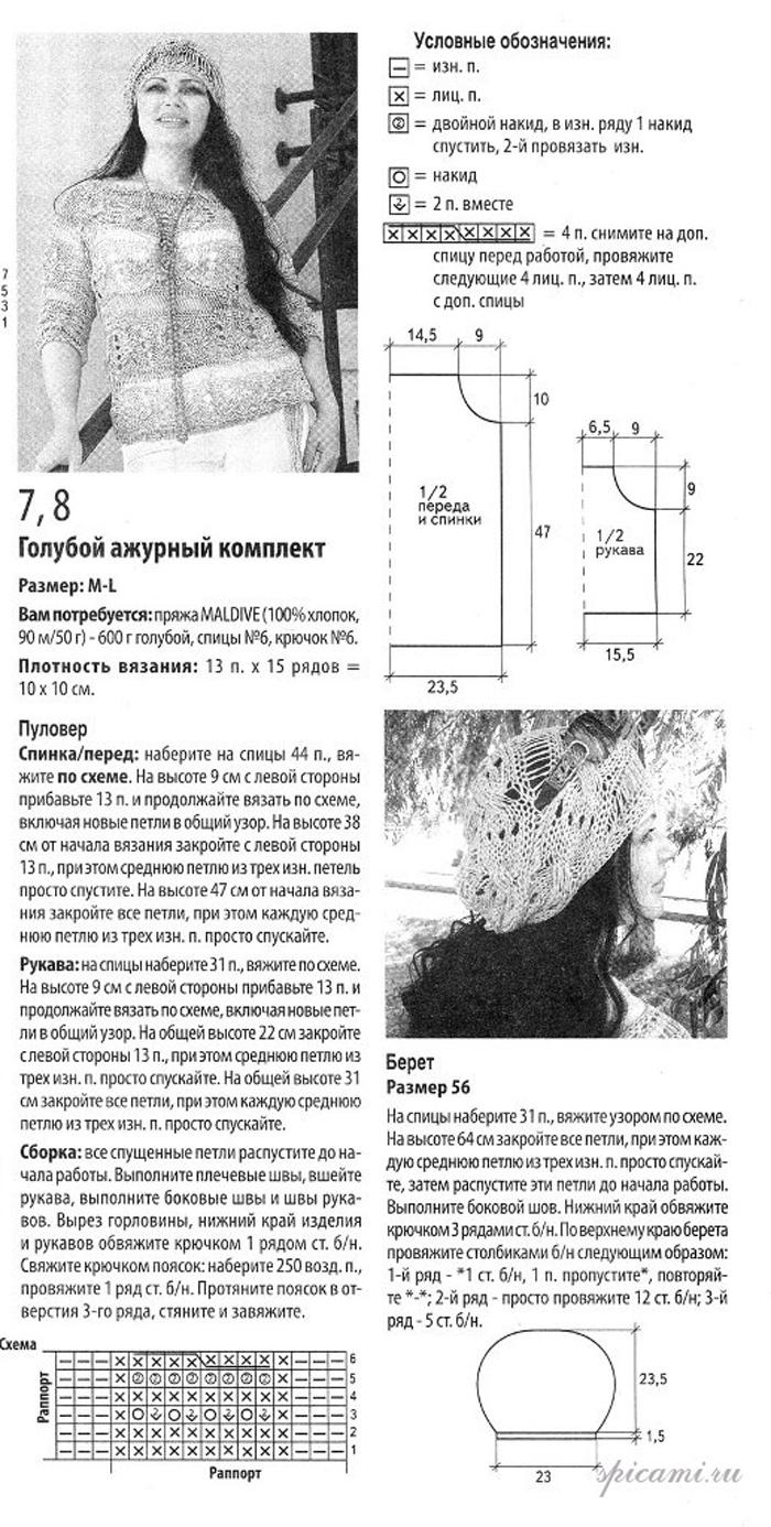 стильное вязание модели и схемы бесплатно