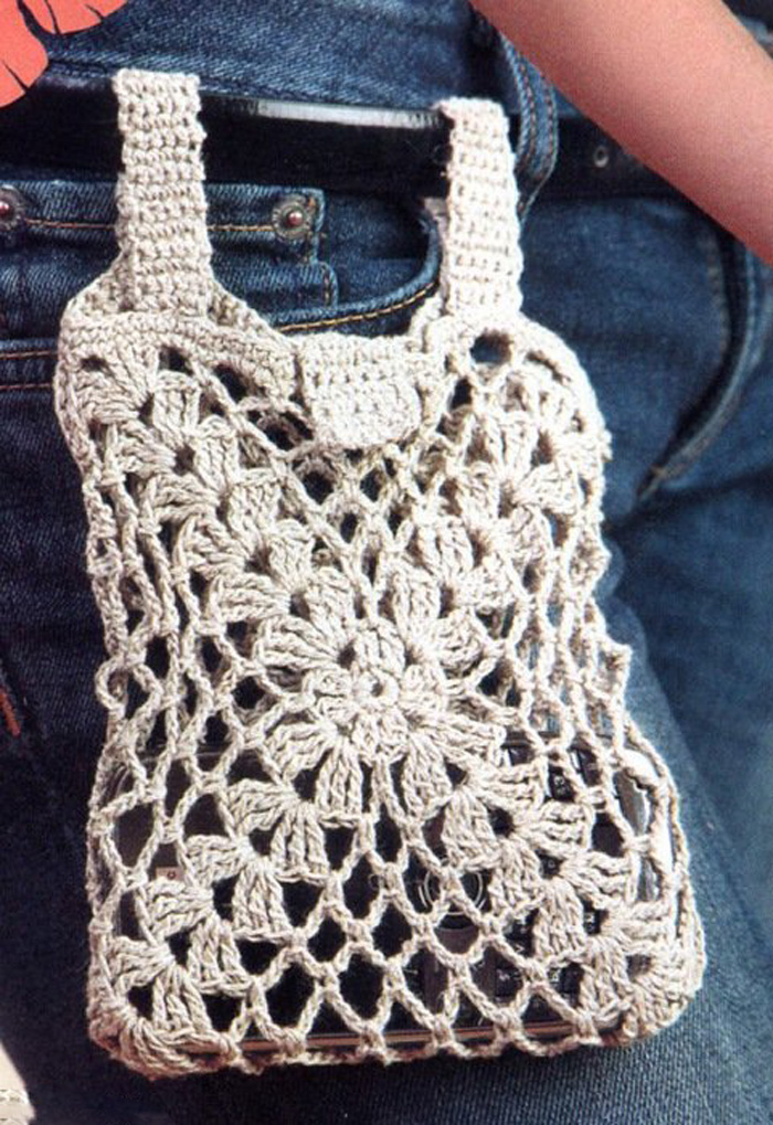 Вязание крючком летних сумок