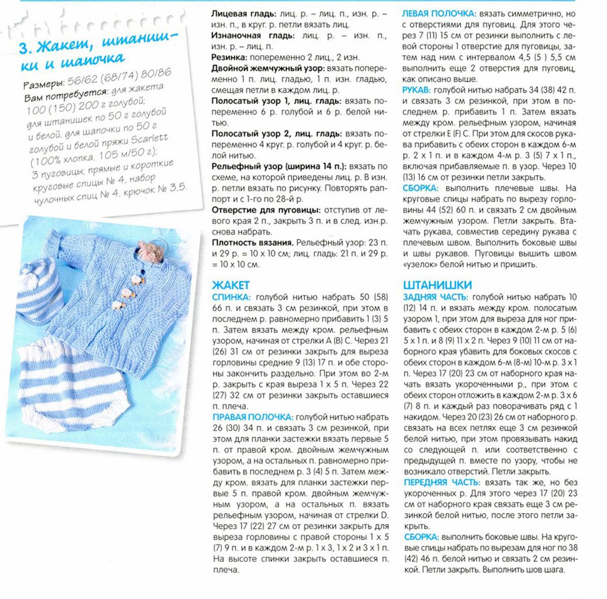 Схемы вязание на спицах для малышей от 0 до 3 лет
