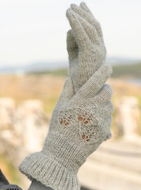 Вязание перчаток с узором