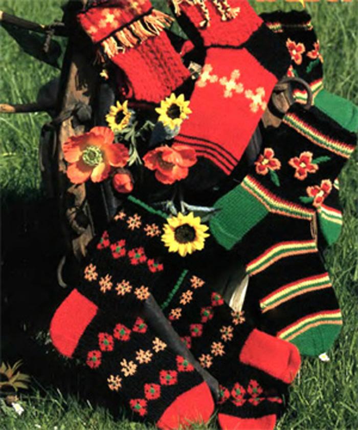 Вязание носков с орнаментом
