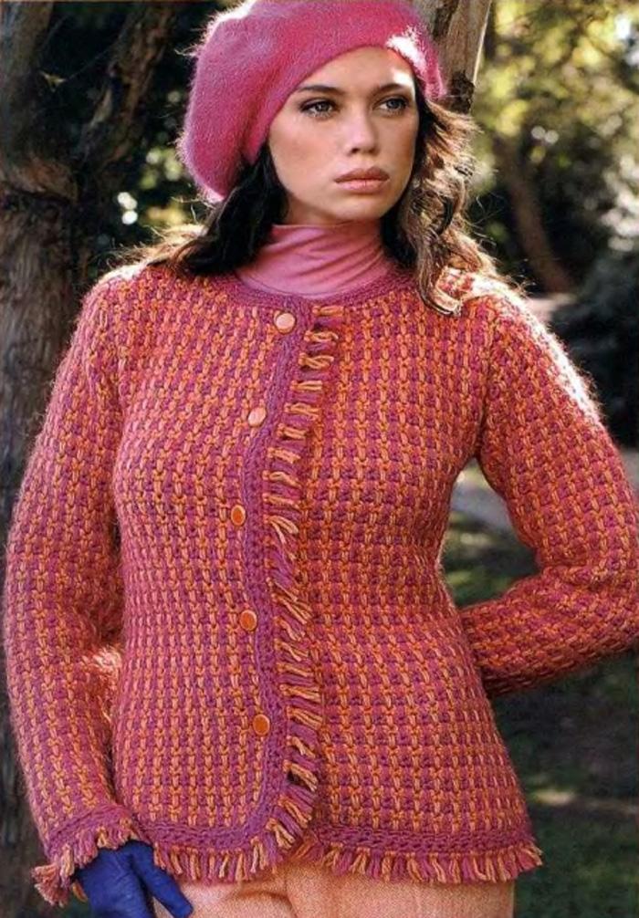 Вязание жакета 50 размера