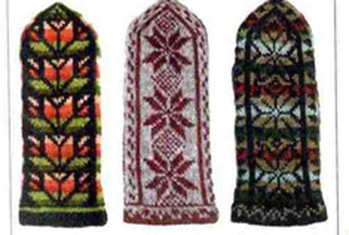 Вязание варежек на 5 спицах