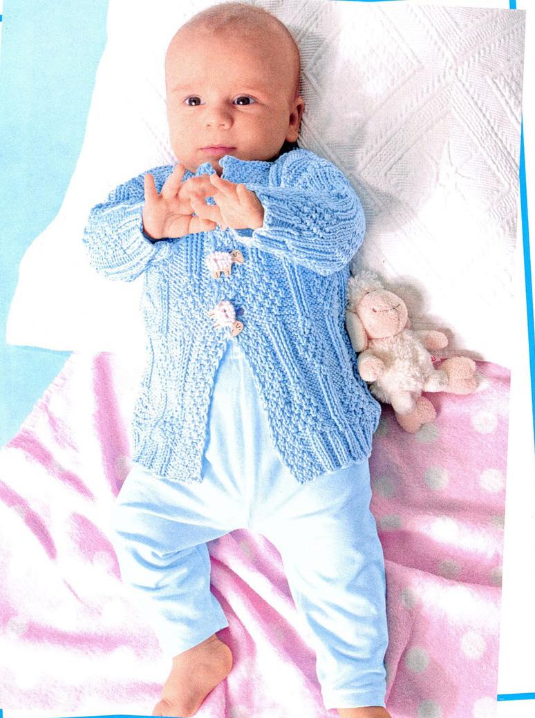Вязание кофточки новорожденным мальчикам 272