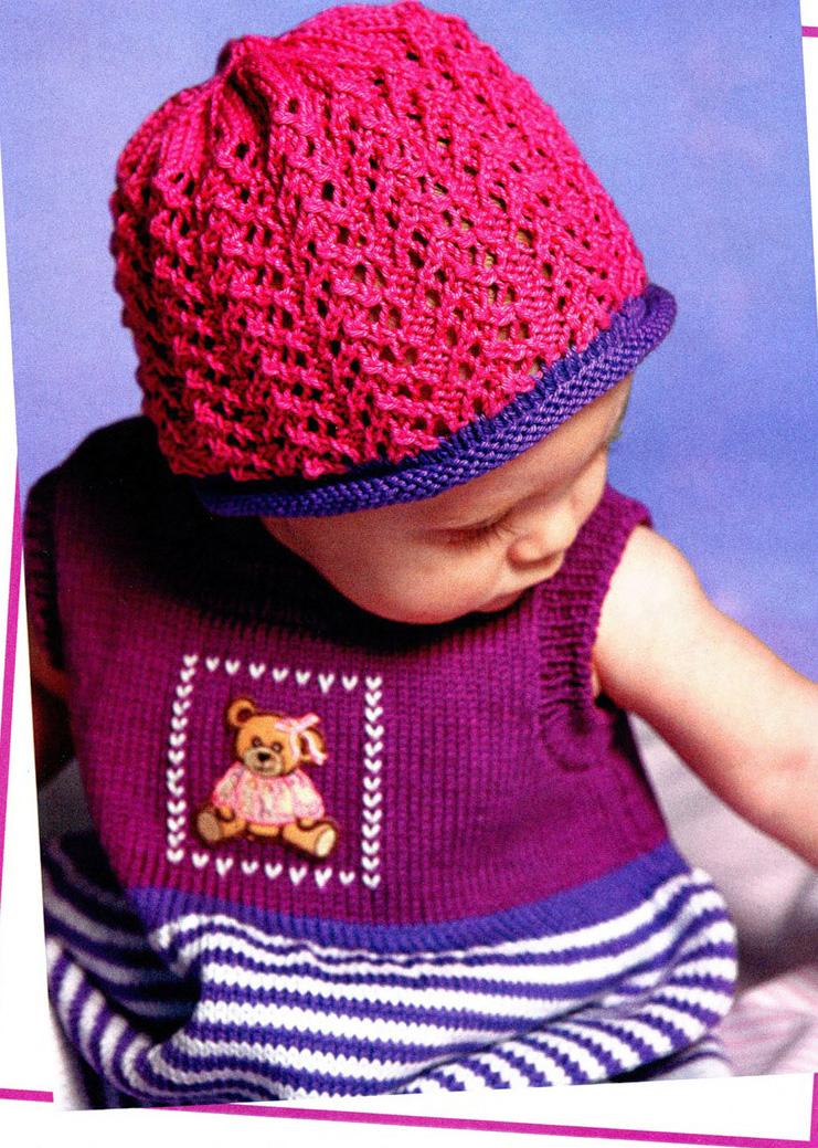 Вязание для девочек беретка 29