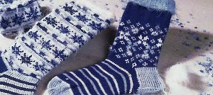 Эти носки вяжутся на четырех