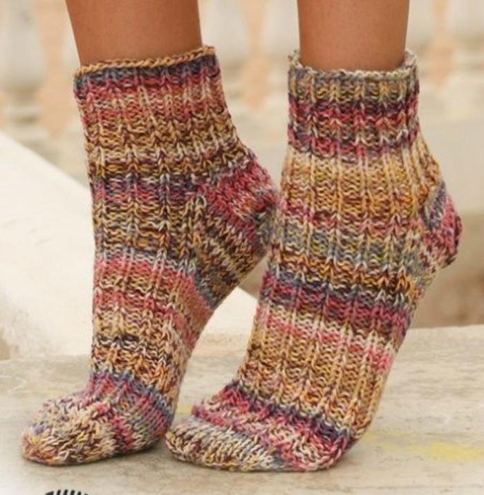 Вязание носков на зиму