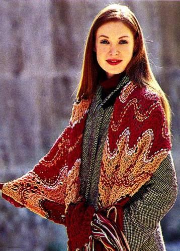 Объемный шарф с узором \