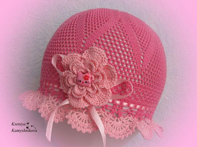 Летняя шапка для девочки