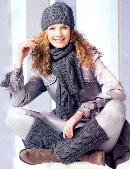 это зимняя шапка, шарф в