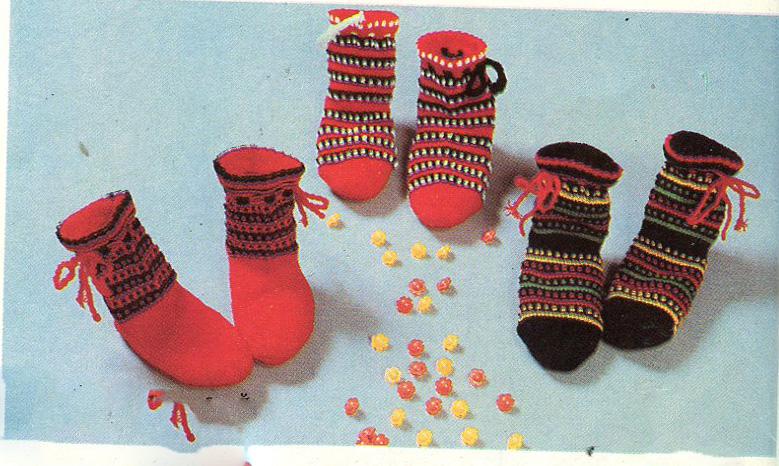 Вязание детских носков на