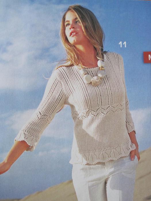 вязания женского пуловера