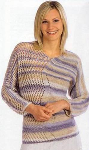 Схема вязания с рукавом