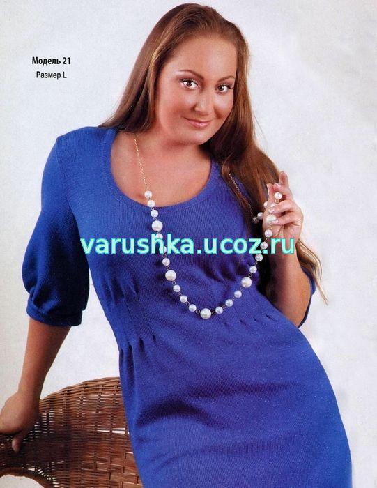 Удачные модели вязания платья спицами