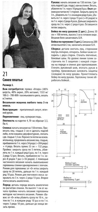 Выкройки и инструкции по вязанию